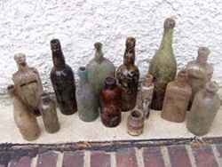 Bottles I  dug from a dump behind my house.