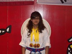 06-05-2011 Championship Bridgette Martinez 1st pl forms 1st pl breaking 1st pl fighting
