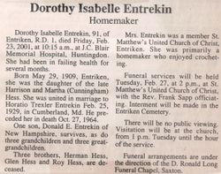 Entrekin, Dorothy Isabelle Hess 2001