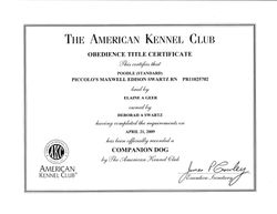 Maxwell CD title certificate