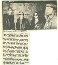 "Gone Away review - ""Milwaukee Journal"" 1989"
