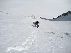 Climbing N Face of Mt. Dade