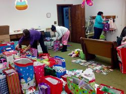 Angel Tree Volunteers at The ROC