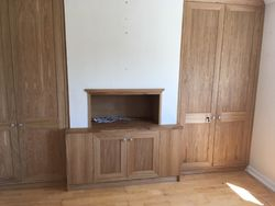 Oak alcove units for dining room
