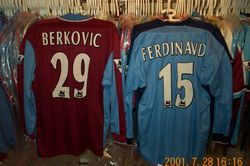 1997/98 Worn Eyal Berkovic and Rio Ferdinand shirts