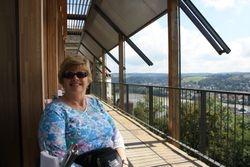 Lynda at Veste Oberhaus restaurant in Passau