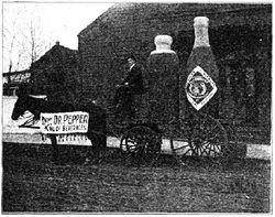 Dr Pepper advertisement wagon