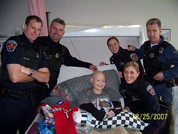 A visit from members of the Hamilton Police Service