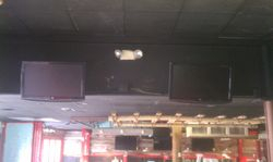 TVs all over