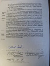 Stan Musial Autographed 1948 Cardinals Contract(COPY) JSA