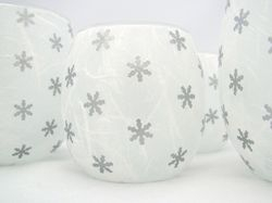 White and Silver Snowflakes