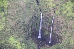 Double Waterfalls - Blue Hawaiian Helicopters