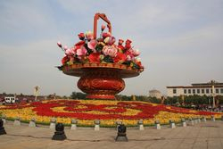 Floral Display at Tianamen Square in Beijing