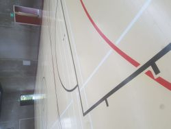 Sports Stadium, Colour Blocked and Line Marking