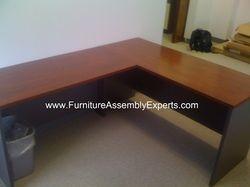 office depot L shaped desk assembled in Laurel MD