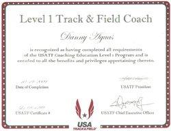 USATF Coaching Certificate
