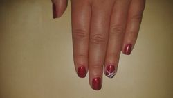 Crawfords wine met kleine nail art!