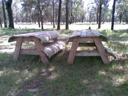 1* Picnic tables