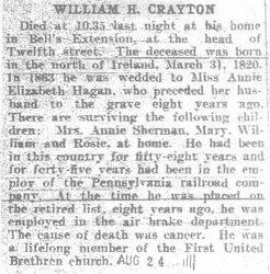 Crayton, William - Part 1 - 1908