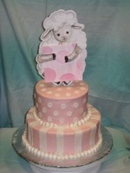 Pink and White Provential Cake