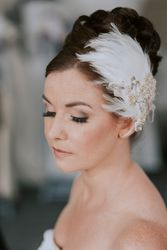 Vintage Inspired Elegant Updo and Flawless Airbrush Makeup
