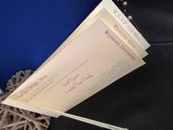 Multi coloured chequebook