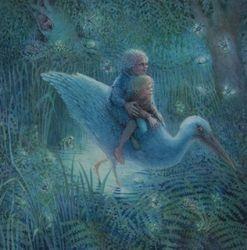 Jan en oma in het moeras