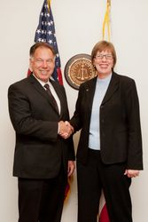 Cathy with Orange County DA Tony Rackauckas