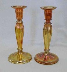 "#232   8 1/2"" candlesticks - marigold"