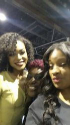 Demetria McKinney, Charmon Bryant Ingram and Jae Rose attends Bronner Bros. 2015 Mid-Winter International Beauty Show at Georgia World Congress Center