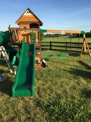 Backyard discovery cedar cove swing set assembly in ashburn Virginia