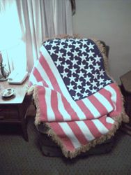 American Flag Afghan - View 2