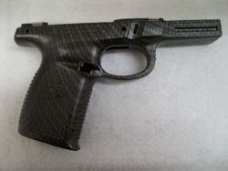 S&W 9mm Processed in Carbon Fiber  Flat Clear
