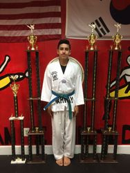 05/16/2015 S. Pavlou TKD Championships  Joshua Arellano  2nd Place Forms  1st Place Breaking  1st Place Weapons 1st Place Sparring