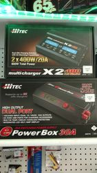 HITEC X2 400 DC ONLY CHARGER AND HITED EPOWER BOX 30A POWER SUPPLY