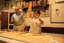 Pasta demonstration at Cantina Bentivoglia