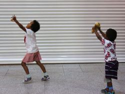 Synchronised Doll Throwing