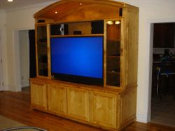 Solid Maple Wall Unit With Arched Top