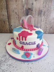 Slime Birthday Cake