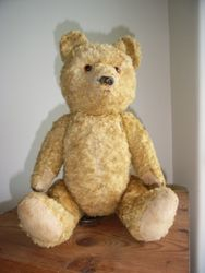 Vintage teddy with face restored