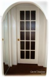 French door installed for a bedroom