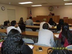 Trial Practice II class - Spring 2012 Semester