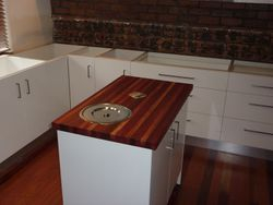 5. Mobile Island Unit with Butcher's Block Benchtop.