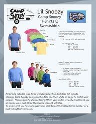 Camp Snoozy Tee Shirts