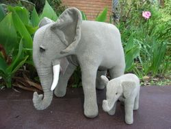 Elephant mother and baby