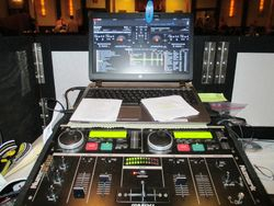 Shot of my set up for the night, 150 of the best dance songs loaded and ready to move around as the mood changes
