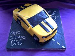 Bumble bee car Cake from Transformers