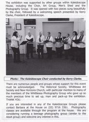Singing the song Whittlesea Town