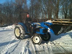 CJ on New New Holland Tractor at Myers