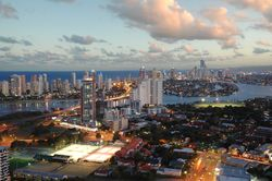 Gold Coast Skyline from Southport twilight